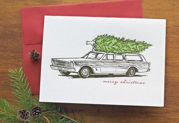 station wagon christmas card