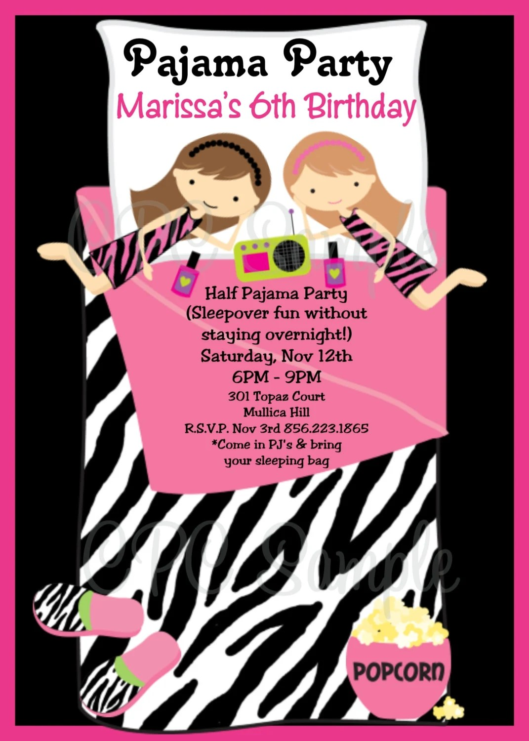 Cheap Printed Invitations Party