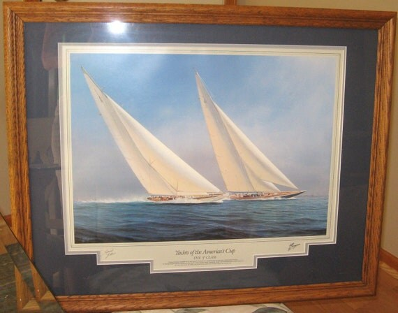 VINTAGE Yachts Of The Americas Cup 1992 Tim Thompson Licensed