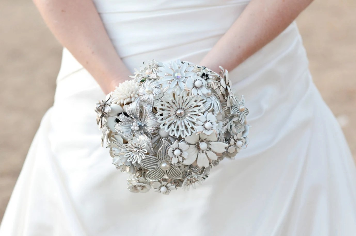 Your Brooches in a Custom Jewelry Memory Brooch Bouquet - made to order