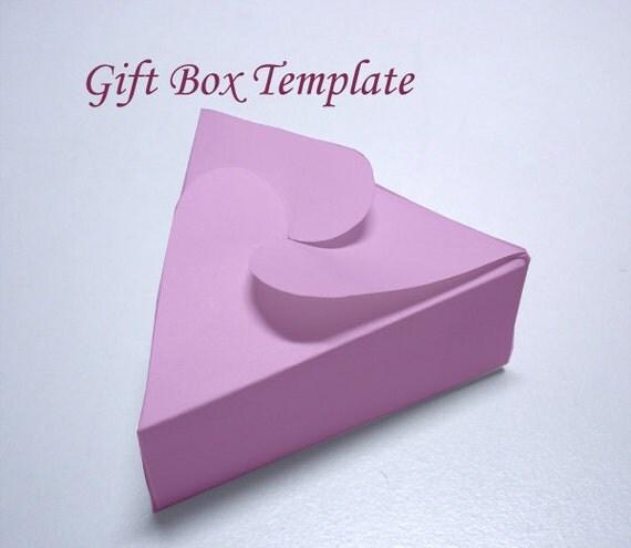 Template Printable Triangular Jewelry Gift Box