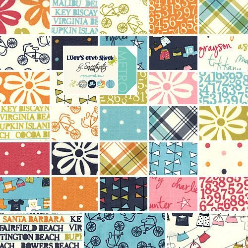 Pre-Cut Moda Lucy's Crab Shack Charm Pack