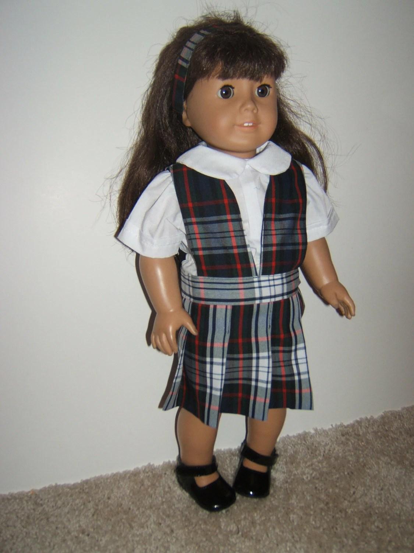 American Girl Doll School Uniform Plaid 49 50 Or By