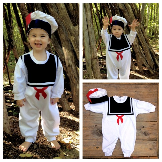 Marshmallow Man Childrens Costume - Warm Version - TheWishingElephant