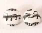 Music Note Earrings - knitbypearl