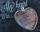 New York Heart Map Pendant