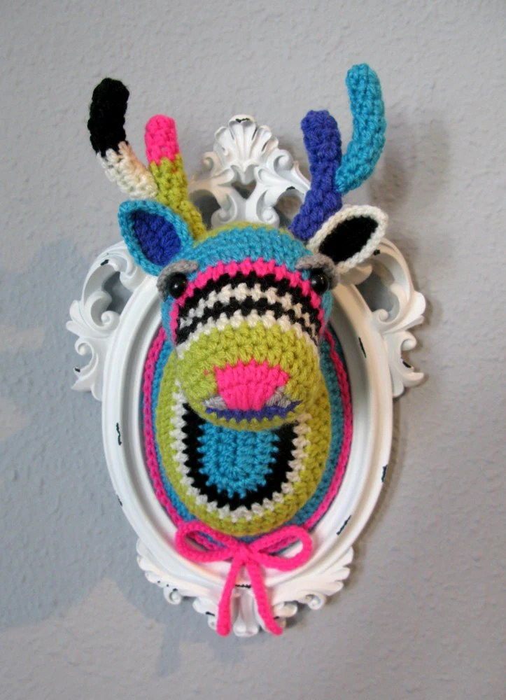 Crochet deer head