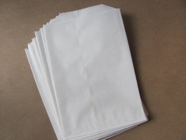 100 White Paper Bags Flat 4 1/4 x 6 Treats / Favor