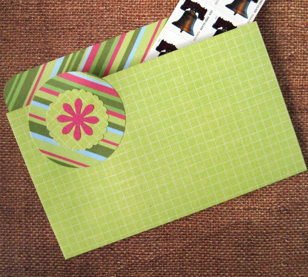Refrigerator Folder Magnet and Coupon Organizer in Lime Green and Pink for Coupons, Photos, Receipts and Recipes