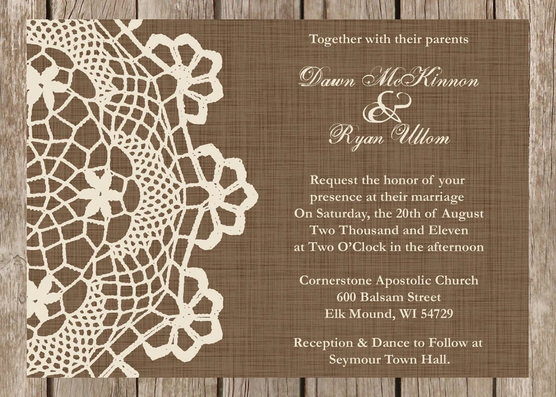 Cheap 5x7 Wedding Invitations
