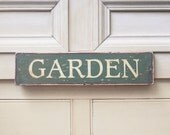 Garden Sign In Hunter Green & Walnut - UtopiaHomeAndGarden