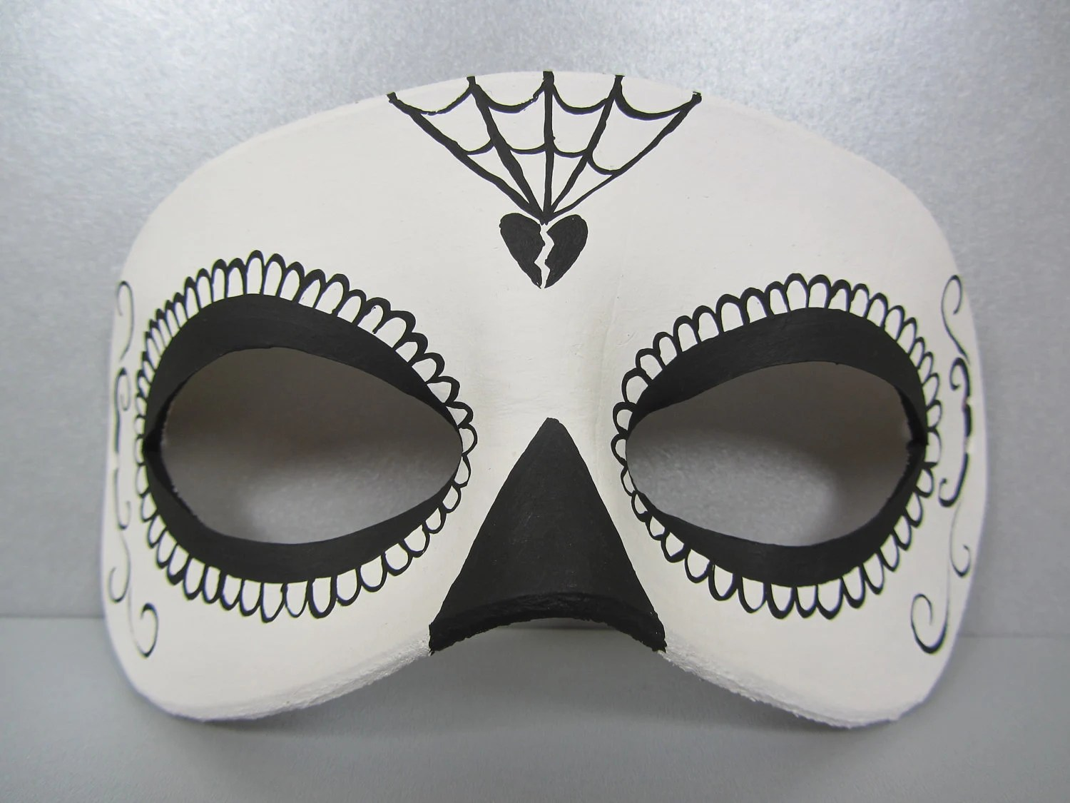 Day of the Dead black and white mask