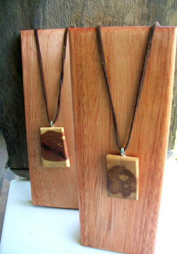 Items Similar To 2 Small Wooden Jewelry Display Stands For