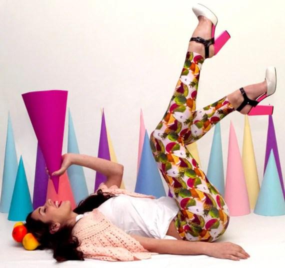 Printed Leggings - Tutti Frutti print leggings - M/L - Uptightso