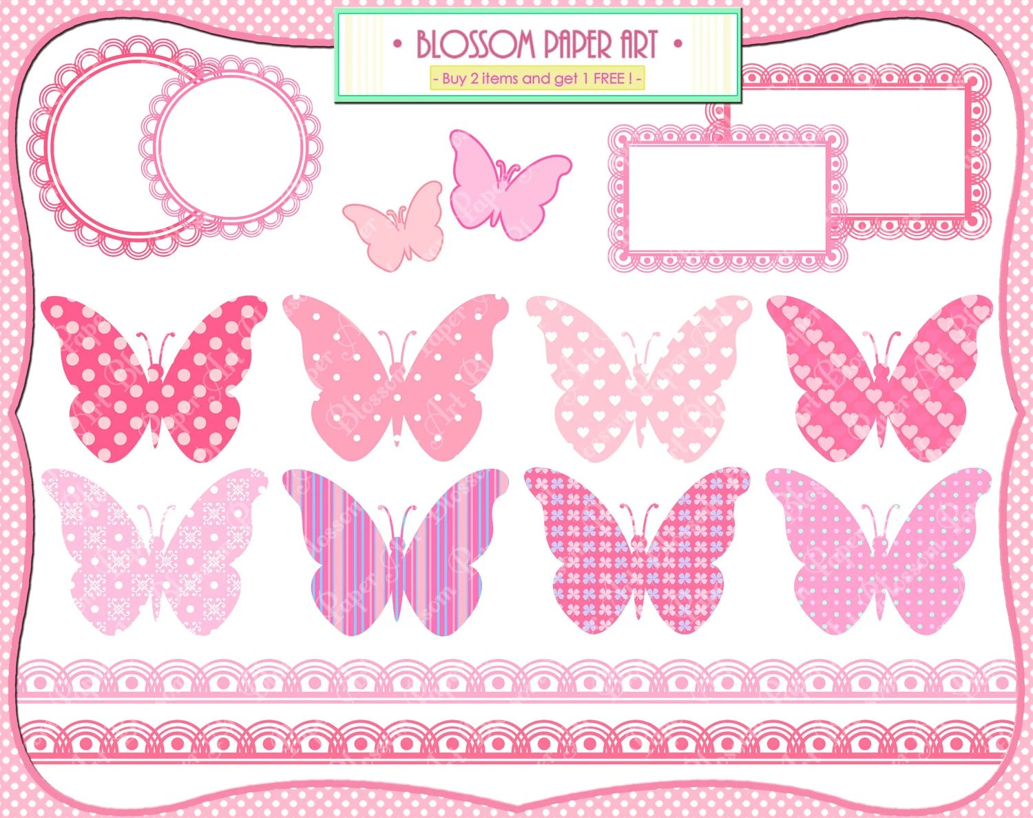 Baby Girl Butterflies Pink Baby Shower Printables
