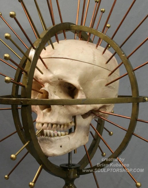 Craniometer -an instrument for measuring the human cranium or skull - vintage medical device