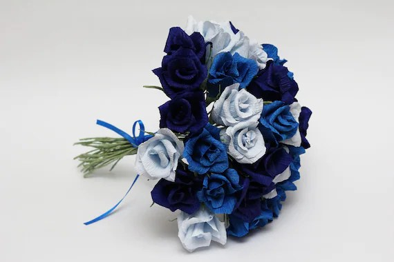 Bridesmaid Bouquet Paper Flowers Wedding Flowers Wedding