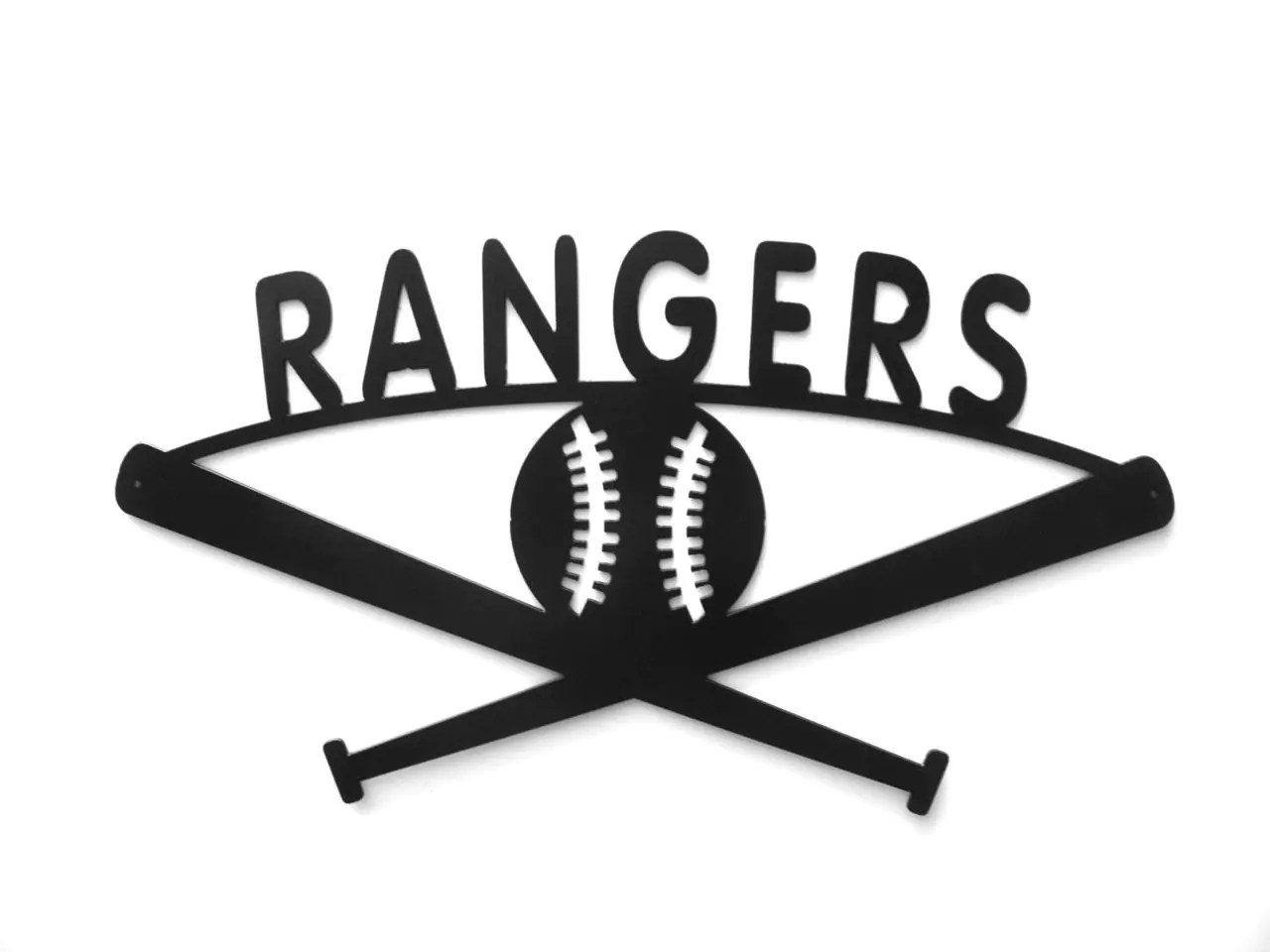 Texas Rangers Baseball Metal Sign By Rillabee On Etsy