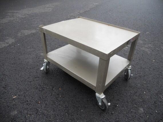 Vintage Utility Cart Metal Stand Mid Century Modern Retro Cart