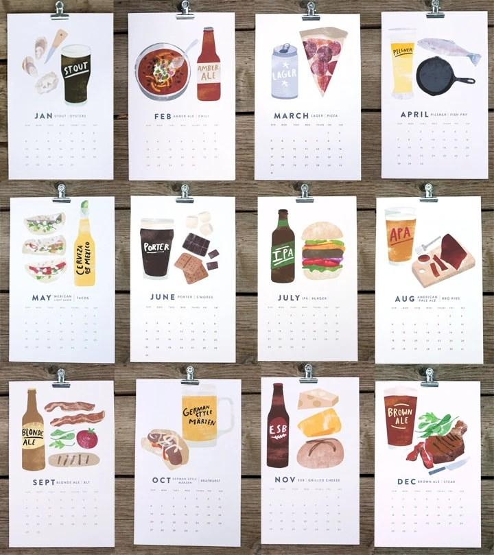 Beer/Food Calendar