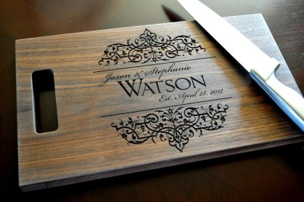 Personalized Cutting Board Laser Engraved 11x15 Wood Cutting Board