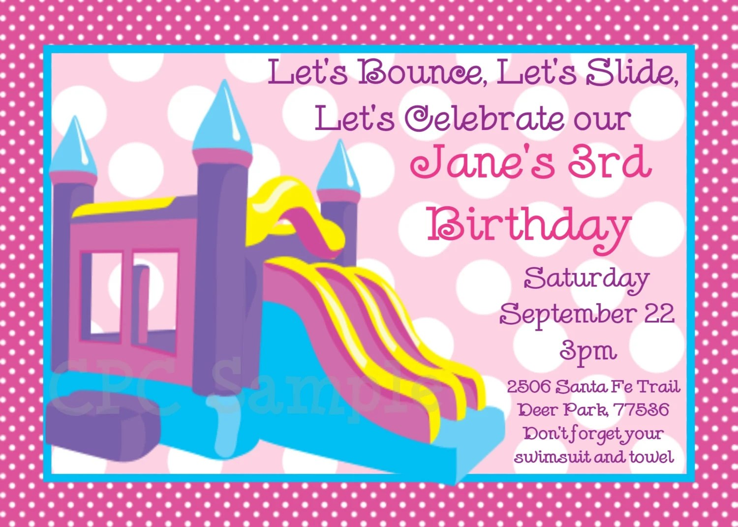 Print Home Party Invitations