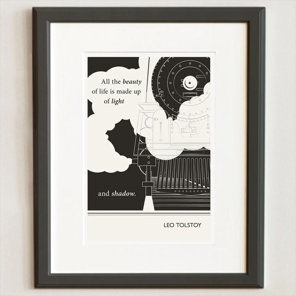 Original Illustration - Leo Tolstoy quotation - Fine Art Prints - Art Posters - Literature inspired art - Dorm Decor