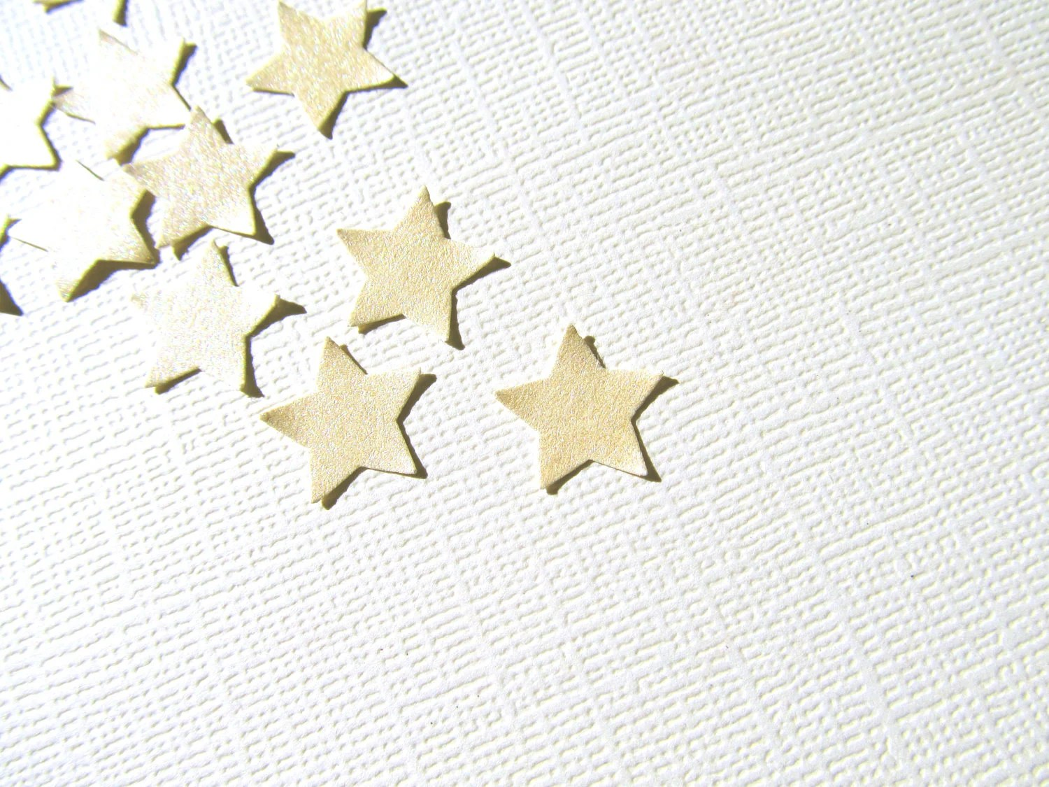 Gold Star Punches, Shimmer, Pearlized, Party Decor, Confetti, Weddings, Embellishments - CatchSomeRaes