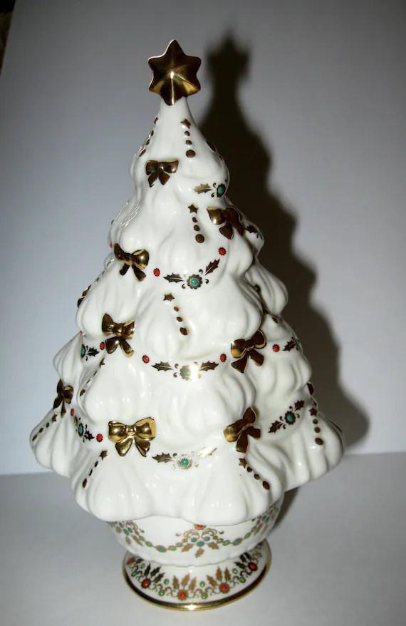 Lenox Music Box Christmas Tree Fine China Collectible Noel