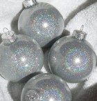 Holographic Glass Christmas Ornament - Sparklysharpfabulous