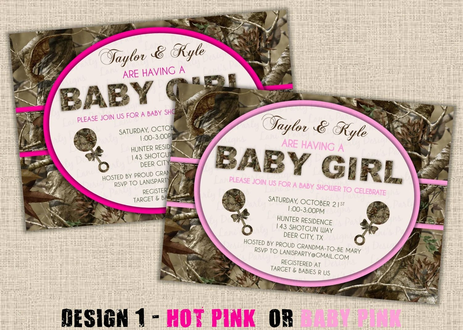 Pink Camouflage Baby Shower
