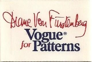 Diane von Furstenberg for Vogue Patterns printed label