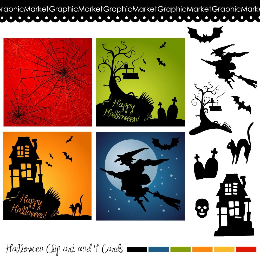 Clip Art Halloween Party Invite