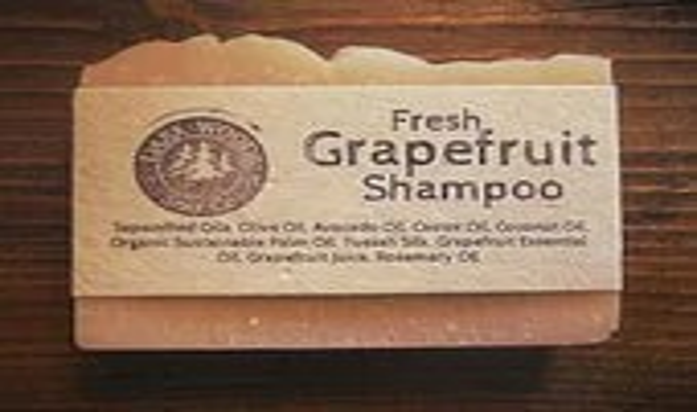 Grapefruit Shampoo Soap- All Natural Shampoo Bar - DarkWoodsSoapCompany