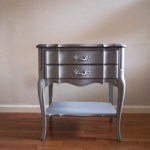 Silver Nightstand In Silver Finish Avon Park Collection