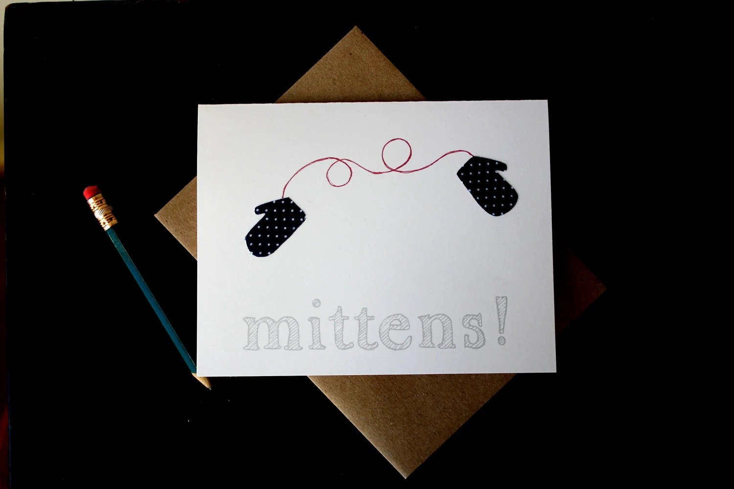 Mittens Set of Blank Cards