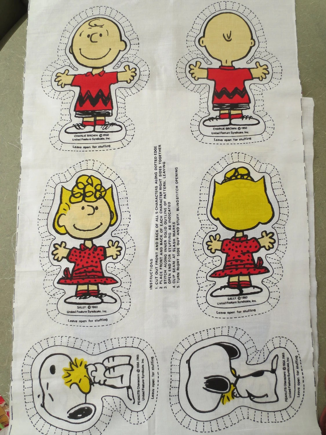 Charlie Brown Characters Cut Out