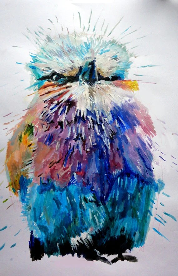 Abstract Bird Paintings