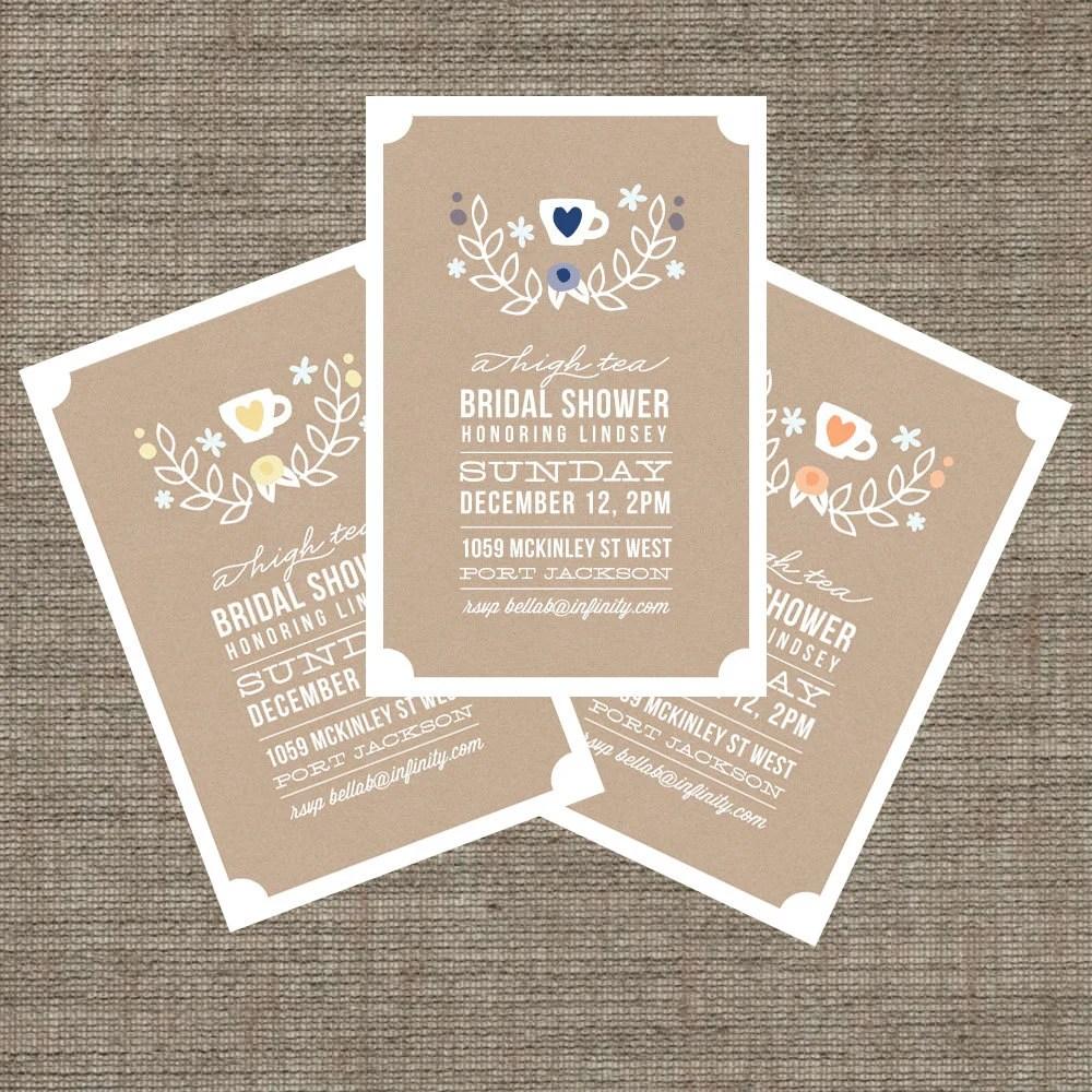Bridal Tea Party Invitations