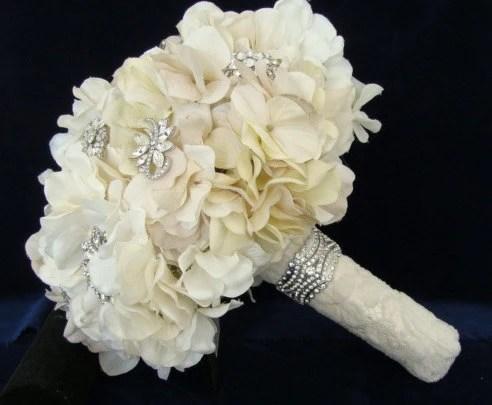 Rhinestone Brooch Bouquet Bridal Brooch Bouquet Hydrangea