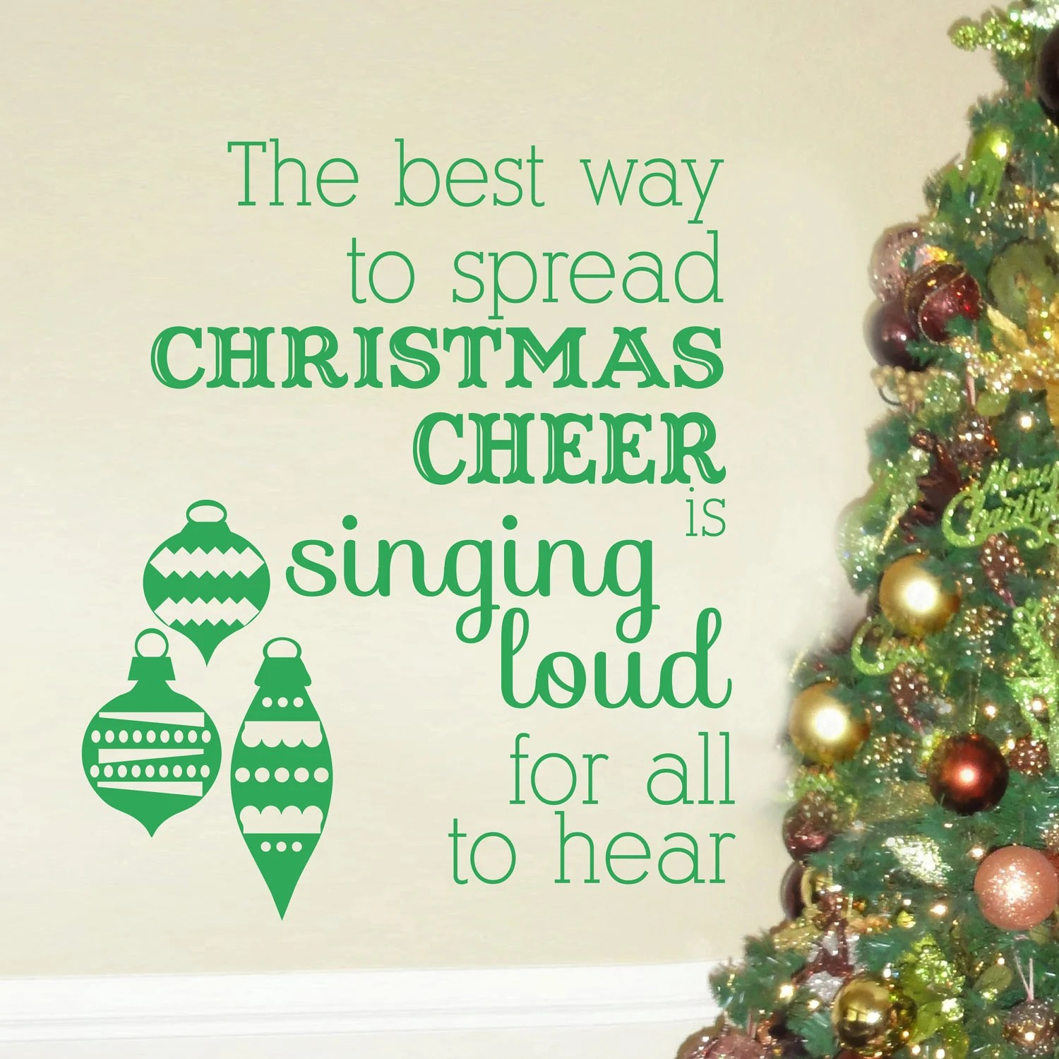 Items Similar To Best Way To Spread Christmas Cheer Is