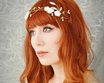 twig crown rustic headpiece berry headband woodland crown