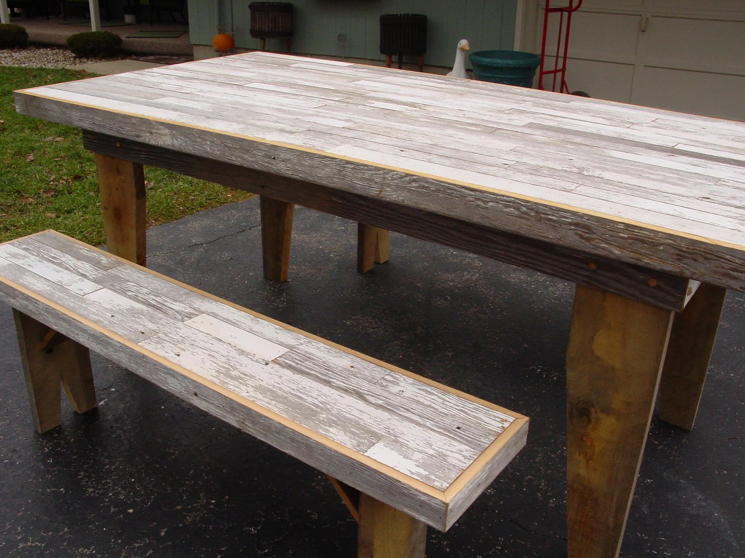 Harvest Dining Table Barn Wood Furniture Kitchen By Primitivearts