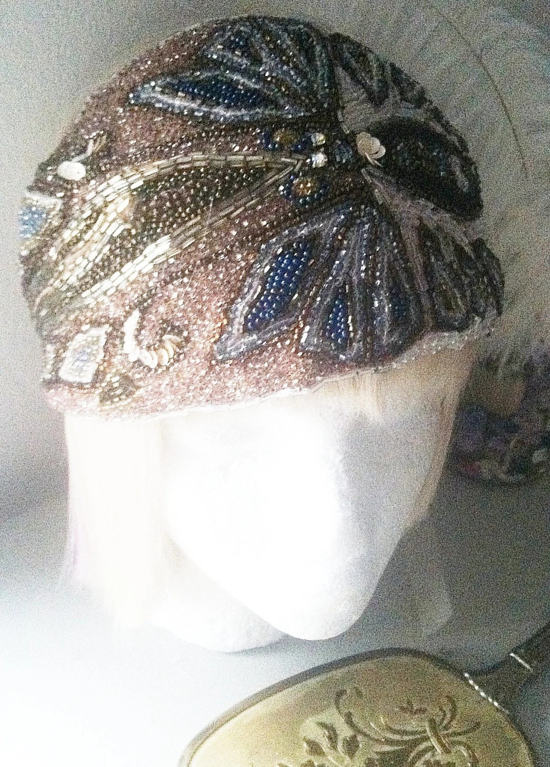 1920s Vintage Bohemian Crystal Beaded Turban By ThePrancingFox