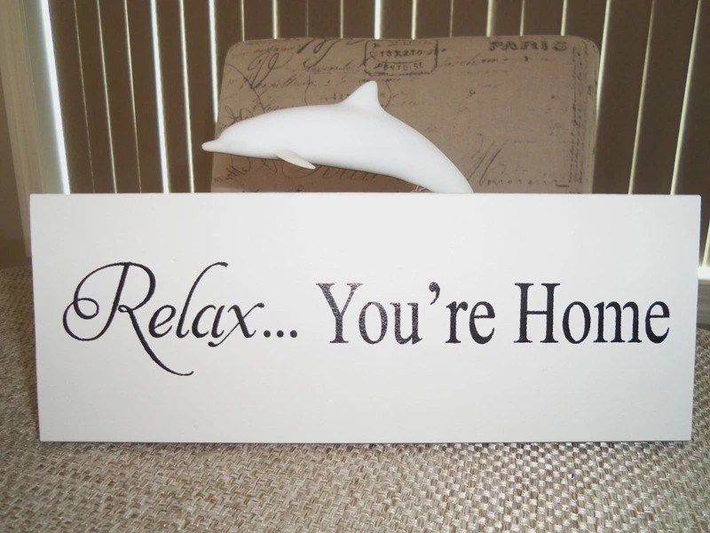 Wooden Signs RELAX You're Home Wall Decor by YouniquelyElegant on Home Wall Decor Signs id=39516