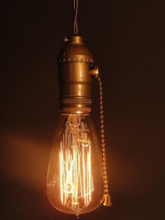 Bare Light Bulb Chandelier