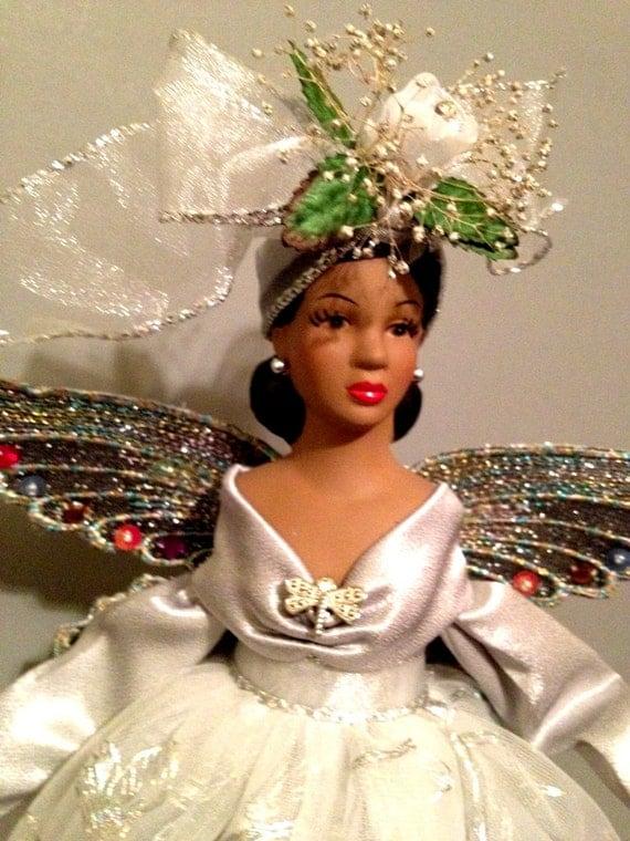 Black Angel Christmas And Gold