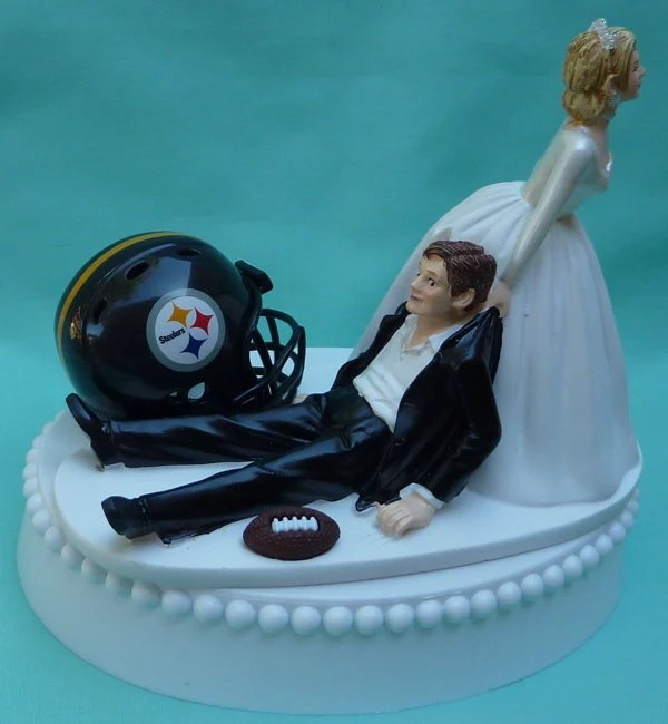 Wedding Cake Topper Pittsburgh Steelers Football Themed W