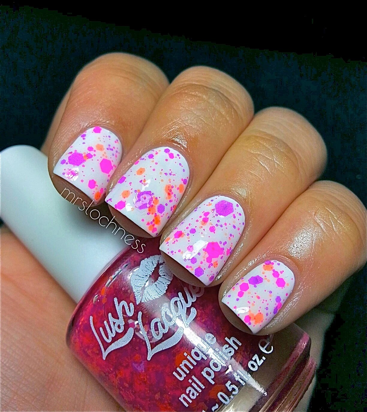 NEW Neon--Chicks Rule:  Custom-Blended NEON Glitter Nail Polish / Lacquer/ indie polish