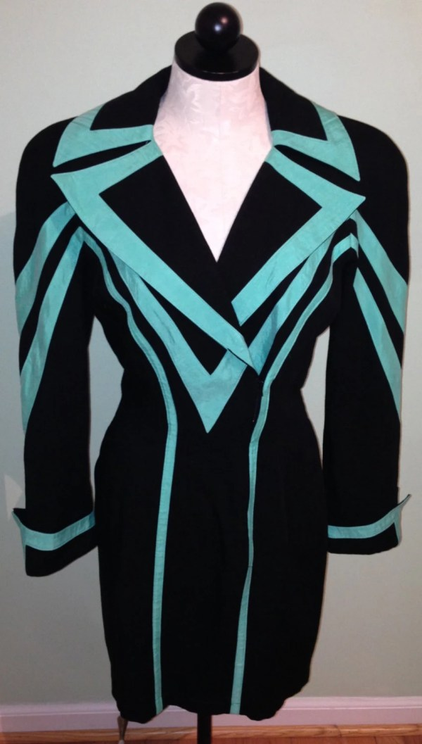 Amazing Vintage 1980s 80s Dynasty Shoulder Pads Mint Black